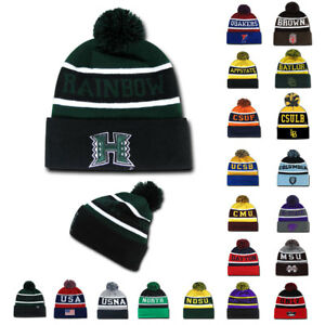 dff9f023642 NCAA Official The Legend Winter Beanies with Pom Top Universities ...