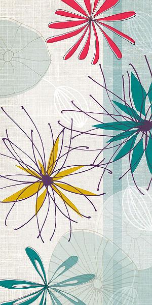 Tandi Venter  Energy I Keilrahmen-Bild Leinwand Blaumen abstrakt modern