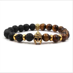 Charm-8mm-Men-Natural-Stone-Beaded-Black-Lava-Stone-Tiger-Eye-Helmet-Bracelets