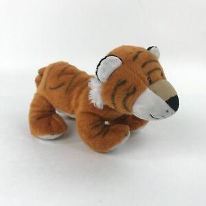 1994-The-Petting-Zoo-Tiger-Cub-Plush-Stuffed-Animal-Toy-Orange-Striped-Standing