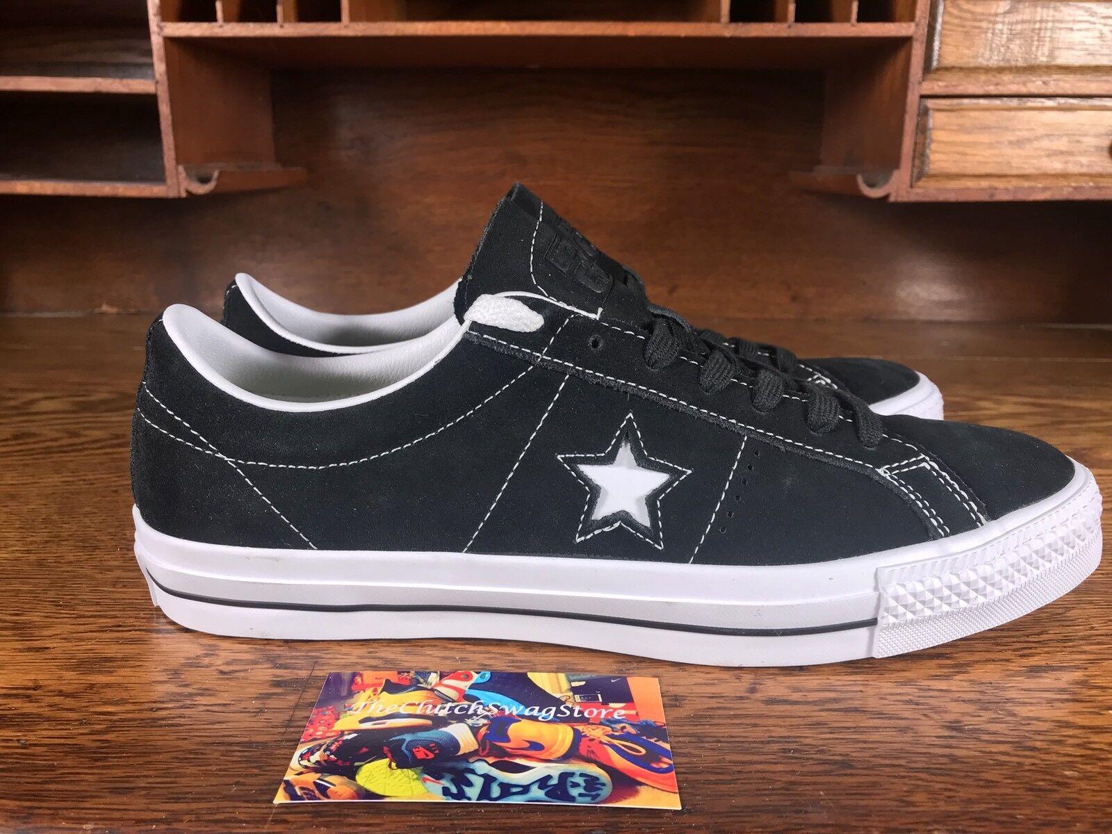 Converse One Star Skate/informales Gamuza todos Ox Hombre Negro/Blanco 2018908C todos Gamuza los tamaños de Zapatos f4f28b