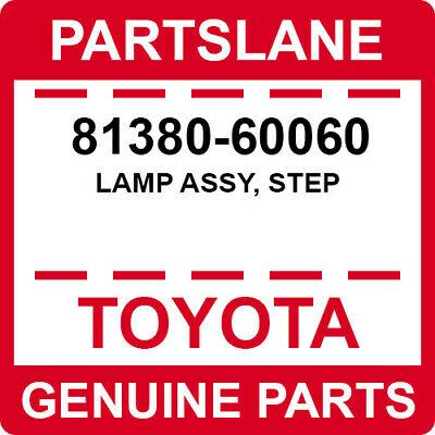 8138060060 Genuine Toyota LAMP ASSY STEP 81380-60060