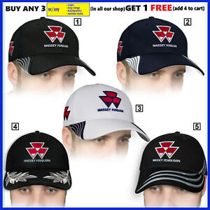 Details about Massey Ferguson Baseball Cap 3D EMBROIDERED Logo Hat Mens  Tractor Accessories