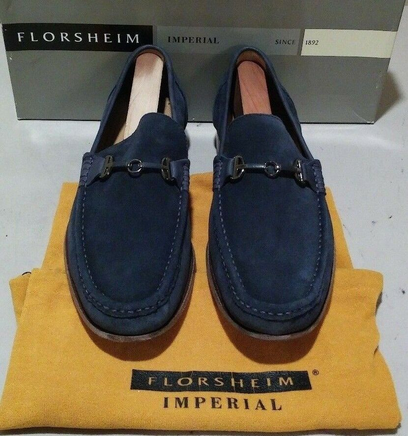 New Florsheim sueded Imperial Parker 11 D sky blue sueded Florsheim leather (678) 0b6133