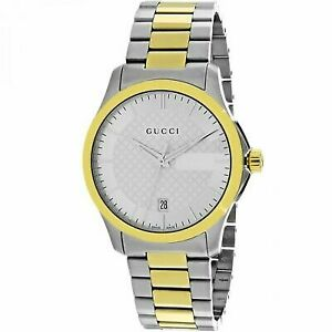 4b1d1ec74af Gucci G-timeless Silver Dial Two Tone Stainless Steel Unisex Watch Item No.  YA126450