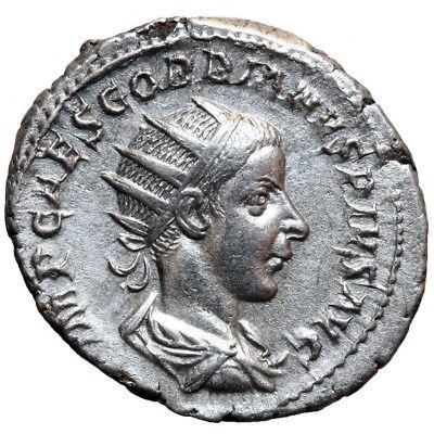 Roman Imperial (235-476ad) Ancient Lovely Roman Coin Silver Antoninianus Gordian Iii 238-244 Ad Aeqvitas Avg