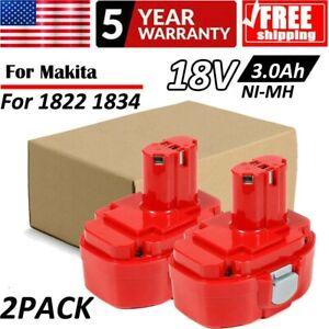 2-Pack-18V-3-0AH-Ni-Mh-Battery-for-Makita-1822-1823-1833-1834-PA18-1835-1822