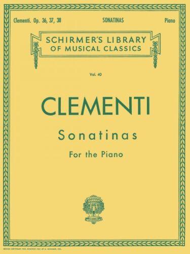 36 37 38 Piano Solo Piano Collection NEW 050252300 12 Sonatinas Op