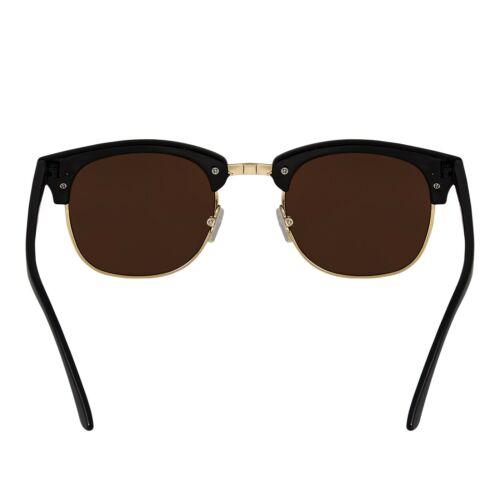 Erwachsene Halb Felge Hupe Stil Sonnenbrille Vintage Retro Unisex Brille Herren