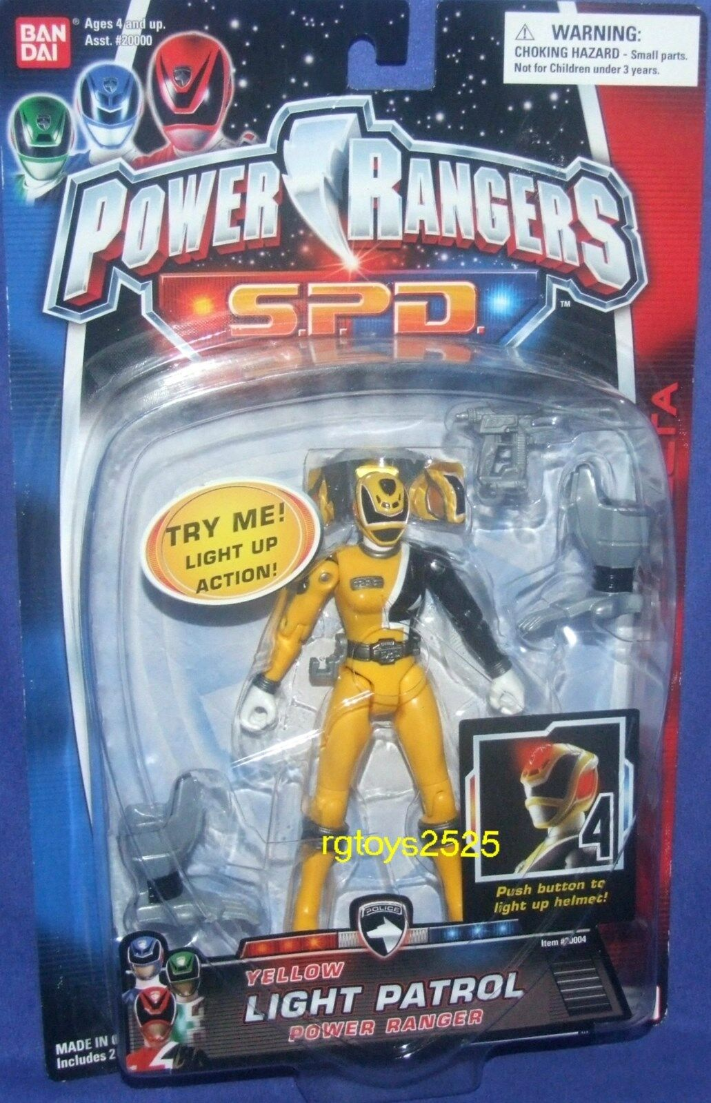 Power Rangers SPD Luz Patrulla 5  giallo Ranger Nuevo Sellado De Fábrica 2004