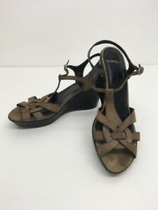 Women-s-Carvela-Brown-Suede-Strappy-High-Wedge-Heel-Sandals-Shoes-Size-Uk-6