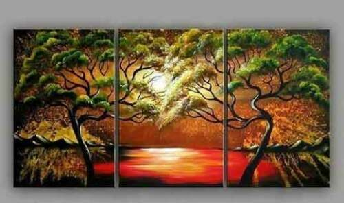 CHENPAT39 pretty landscape wall art 100/% hand-painted modern oil painting canvas