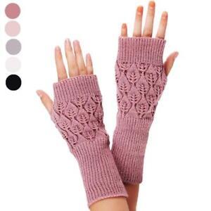 Fashion-Unisex-Women-Ladies-Soft-Warmer-Fingerless-Long-Stretchy-Mitten-Gloves