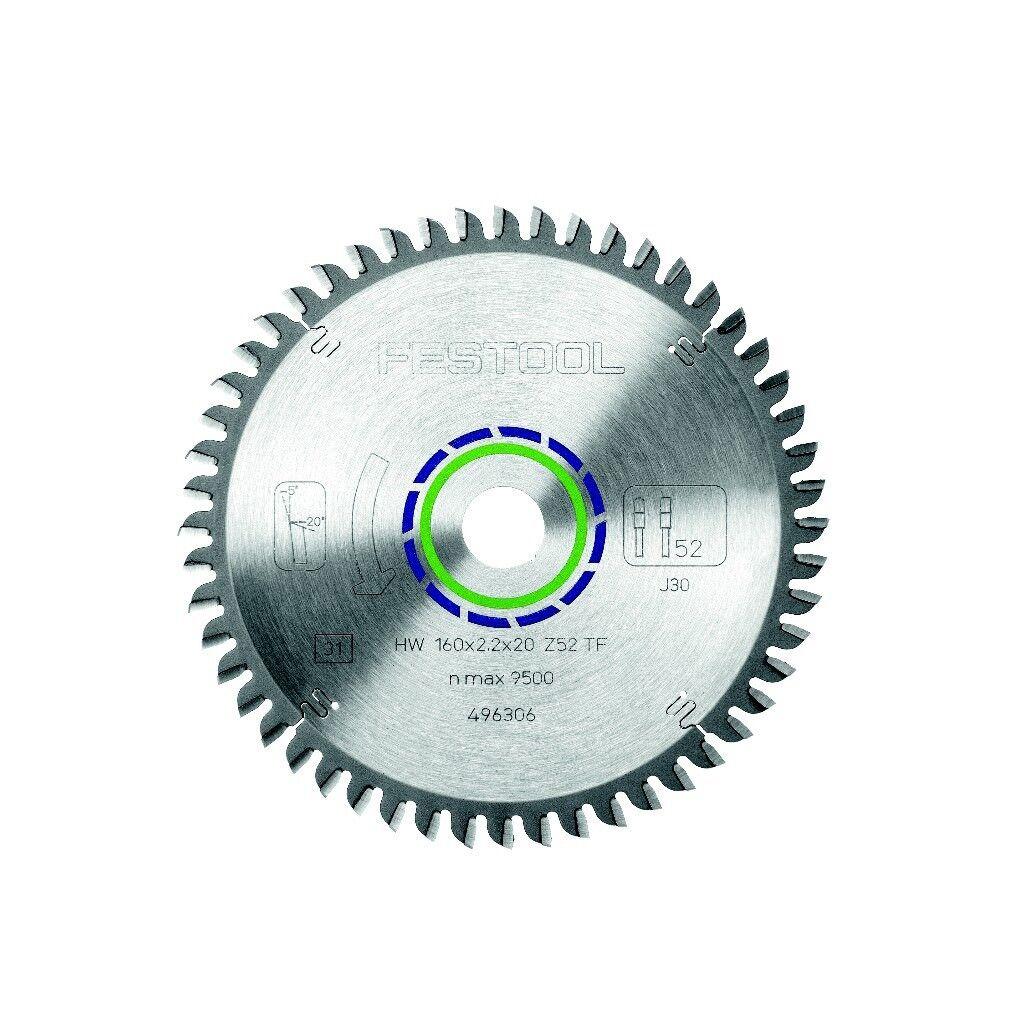 Festool Spezial Sägeblatt Alu Kunststoff 160 x 2,2 x 20 mm TF52 496306 für TS 55