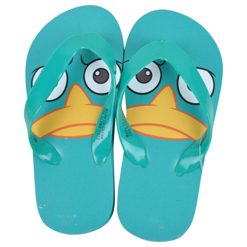 03e697696 Disney Perry The Platypus Big Face Phineas And And And Ferb Youth Boys Flip  Flops 42ee8e