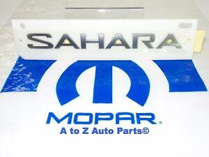 2018 Jeep Wrangler JL Sahara Nameplate Emblem Factory Mopar New Single