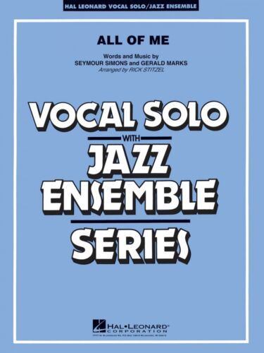 All of Me Key F Vocal Solo Jazz Ensemble Series NEW 007012509