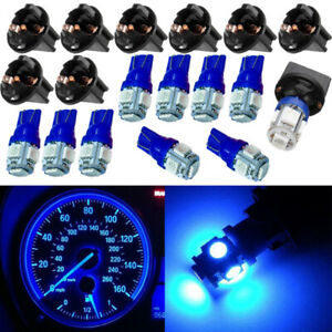 10Pcs-T10-5SMD-PC194-168-LED-Blue-Car-Instrument-Cluster-Dash-Gauge-Light-Bulbs