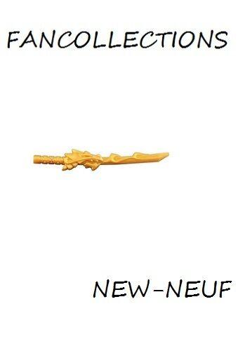 LEGO-X1  Pearl Gold Minifig 93055  NEUF Katana Weapon Sword