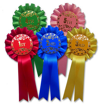 5th Horse Rosettes F2 5th Place Rosettes 1st Dog Show Rosettes 2 tier 1st