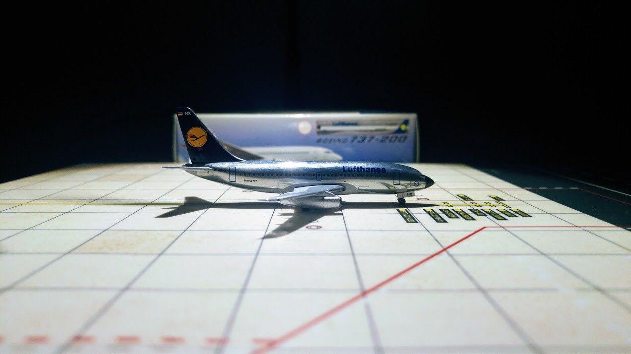 Neue 1   400 aeroclassics lufthansa - boeing 737-200 metall stall d-abhx