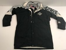 Vtg Los Angeles Kings Starter Jacket Parka Trench Coat Down Filling Large L NHL