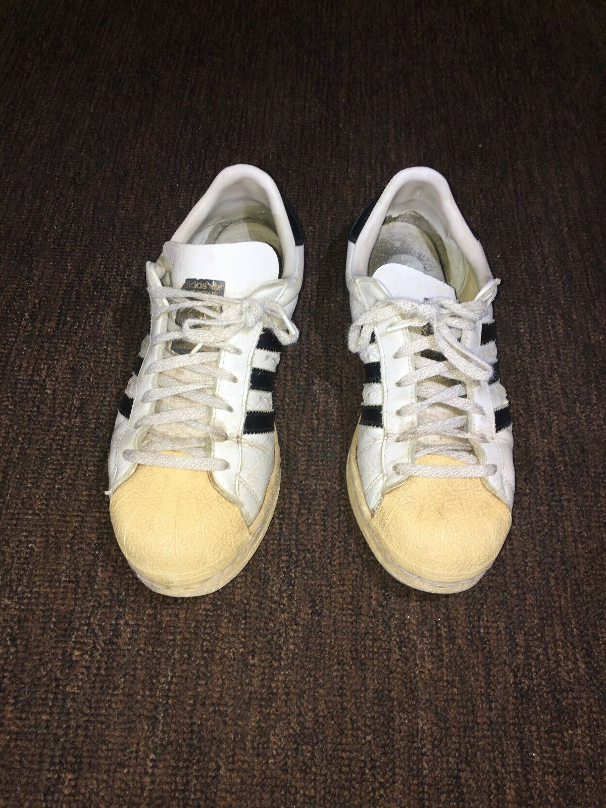 Vintage 1960s Adidas Superstar white sneakers - very rare find