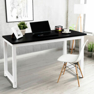 Wood-Computer-Desk-PC-Laptop-Table-Study-Workstation-Home-Office-Black-New