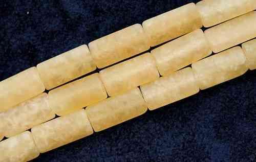 16x8 MM GELBER CALCIT RECHTECKE STRANG MATT B6-05