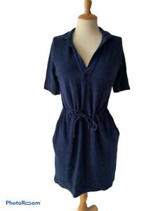 New-ORLEBAR-BROWN-Navy-Blue-Cotton-Terry-Towelling-Beach-Dress-BNWT-Short-Sleeve
