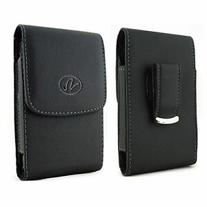 For-HTC-Cell-Phones-Vertical-Leather-Holster-fits-w-Thin-Snap-Case-on
