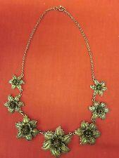 Vintage Topazio Filigree Sterling Silver Vermeil Necklace