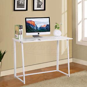 Image is loading Folding-Computer-Desk-Home-Office-Flip-Flop-Workstation-