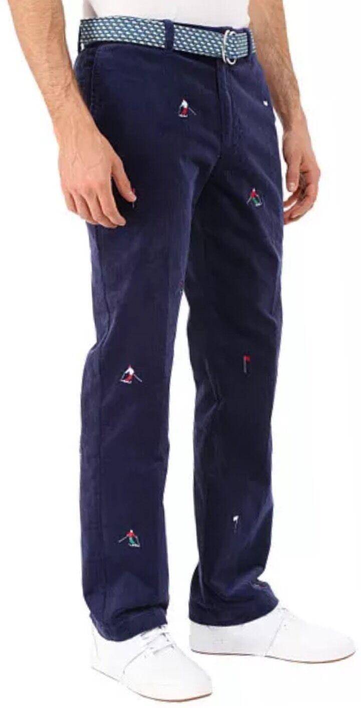 NWT VINEYARD VINES Men's bluee Slim Fit Breaker Corduroy Skier Pants Sz 28 x 32
