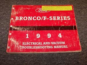 1994 Ford Bronco Electrical Wiring & Vacuum Diagram Manual ...