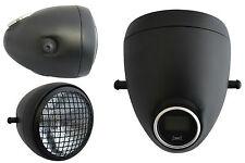 """5 3/4"""" Vintage Style Black Mesh Headlight & Integrated Digital GPS Speedometer"""