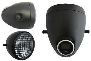 Faro-amp-Velocimetro-Digital-integrado-GPS-5-3-4-034-Negro-Estilo-Vintage-Malla