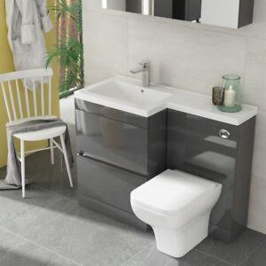 Modern-Pemberton-Grey-Bathroom-2-Draw-LH-Vanity-Basin-Unit-with-Toilet-and-Sink