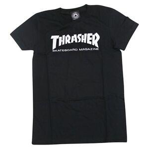 Thrasher-Magazine-SKATE-MAG-LOGO-Skateboard-GIRLS-FIT-Shirt-BLACK-SMALL