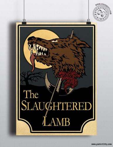 American Werewolf SLAUGHTERED LAMB Minimal Movie Poster Posteritty Pub Sign
