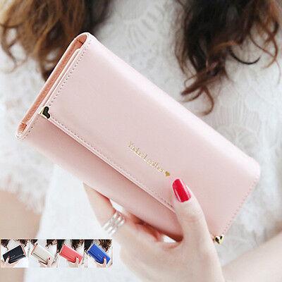 Women Lady Fashion New PU Leather Wallet Case Long Handbag Card Holder Purse