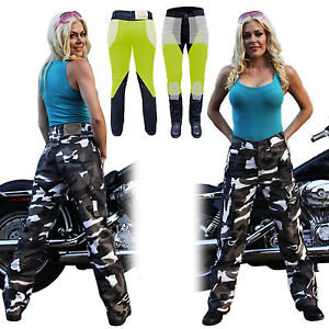 NEW-WOMENS-CAMO-MOTORCYCLE-REINFORCED-WITH-DuPont-KEVLAR-JEANS-SIZE-6