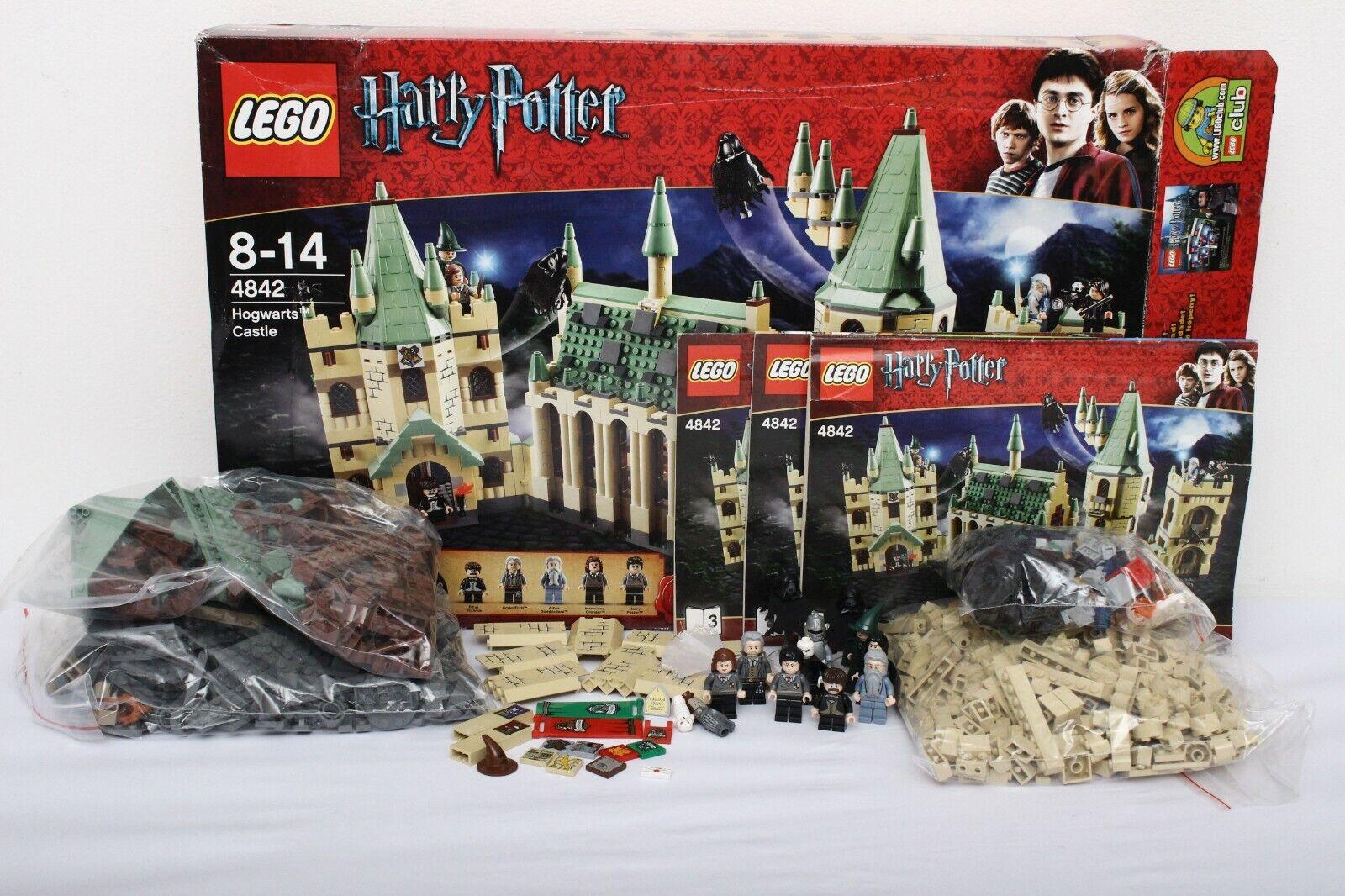 Lego Harry  Potter Set 4842-1 Hogwarts Castle 100% completare + instructions + scatola  nuova esclusiva di fascia alta