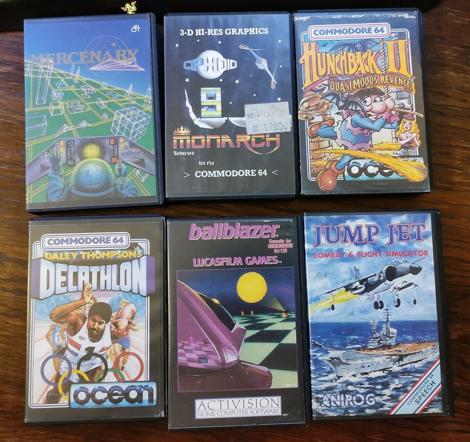 Originale spil i clamcases til Commodore 64, Commodore 64
