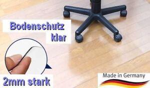 Bodenschutzmatte Bürostuhlunterlage Bodenmatte Stuhlunterlage Transparent Klar Kleinmöbel & Accessoires Bodenschutzmatten