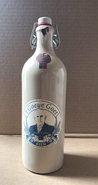 german beer bottle fip top pottery M.K.M 't Goeye Goet Nederlands .75l Empty