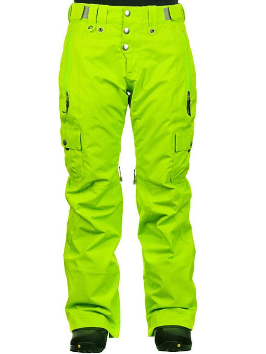 New Womens Bonfire Shasta Insulated Ski and Snowboard Pants Medium Super Sour