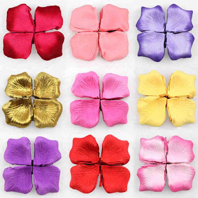 2000 Multi Colors Silk Flower Artificial Petals Wedding Engagement Decorations