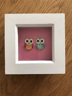 Baby Owl Series Girls Pink Small Photo Frame 3x3 Picture