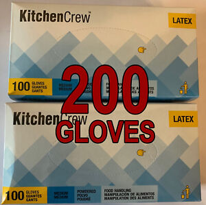 200-DISPOSABLE-LATEX-POWDERED-LARGE-GLOVES-GANT-JETABLES